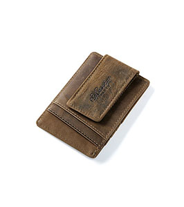 Corporate gift items dubai promotional gifts advertising gifts men genuine leather business card holder with strong magnet money clip reheart Gallery